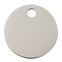 Plain Stainless Steel Dog Tag - Large Circle