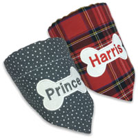 Luxury Personalised Dog Bandana - Bone