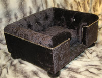 Sandringham Crushed Velvet Dog Bed