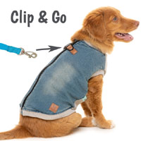 MacGyver Denim Dog Jacket & Harness