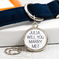 Marriage Proposal Dog Tag