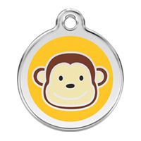 Medium Dog ID Tag - Monkey