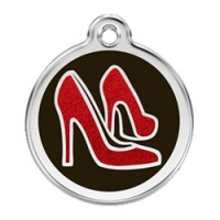 Glitter Red Shoes Dog ID Tag - Medium