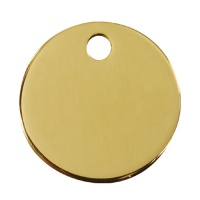 Plain Brass Dog Tag - Medium Circle