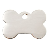 Plain Stainless Steel Dog Tag - Medium Bone