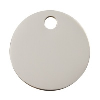 Plain Stainless Steel Dog Tag - Medium Circle