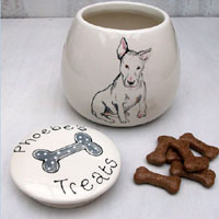 Treat Jar With Dog's Name & Portrait