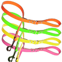 Disco Neon Leather Dog Lead