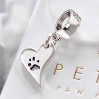 Your Dog's Paw Print Charm Bead
