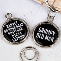 Printed Pet Tag - Grumpy Old Man
