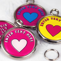 Pawesome Pet Tag - Heart & Text