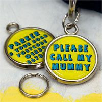 Printed Pet Tag - Please Call My Mummy
