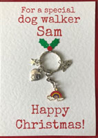 Personalised Dog Sitter or Walker Christmas Card