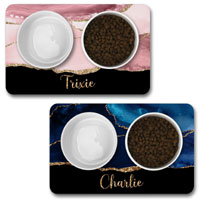 Personalised Dog Bowl Mat - Agate