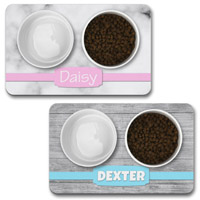 Personalised Dog Bowl Mat - Banner