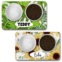 Personalised Dog Bowl Mat - Nature