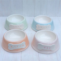 Personalised Dog Bowl - Pastels