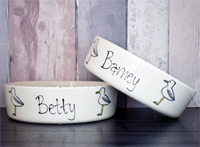 Personalised Dog Bowl - Seagull