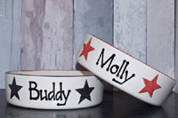 Personalised Dog Bowl - Stars Straight