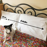 Personalised Dog Hogger Pillowcase Set
