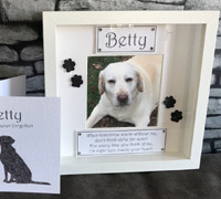 Personalised Dog Memorial Photo Frame