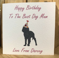 Personalised Dog Mum Birthday Card