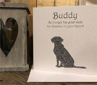 Personalised Dog Memorial Sympathy Card