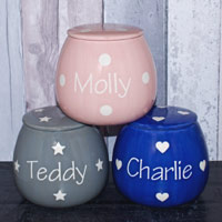Personalised Dog Treats Jar - Polka