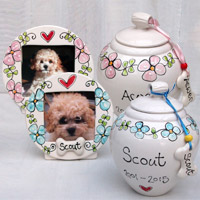 Personalised Dog Urn & Photo Frame - Forget Me Not
