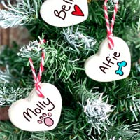 Personalised Heart Xmas Tree Ornament