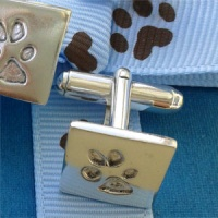 Your Dog's Paw Print Cufflinks