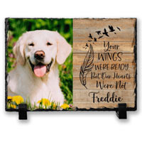Personalised Photo Pet Memorial Slate