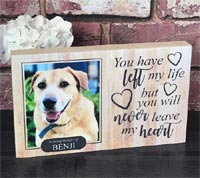 Personalised Pine Dog Memorial Block