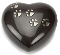 Pet Urn Hertford Black Pewter Heart
