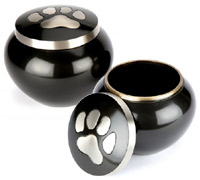 Pet Urn Hedon Black Pewter