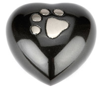 Pet Keepsake Urn Hedon Black Pewter Heart