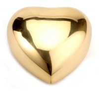 Keepsake Urn Polished Brass Heart
