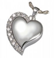 Pet Cremation Jewellery Heart Necklace