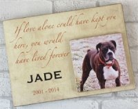 Wooden Text & Photo Dog Plaque