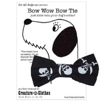 Pirate Dog Bow Tie