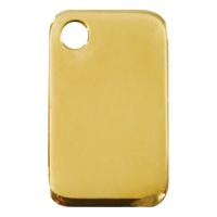 Plain Brass Rectangular Dog Tag - Large