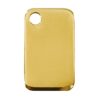 Plain Brass Rectangular Dog Tag - Medium