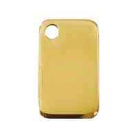 Plain Brass Rectangular Dog Tag - Small