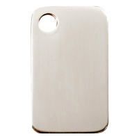 Plain Stainless Steel Rectangular Dog Tag - Large
