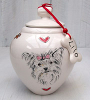 Personalised Portrait Dog Urn