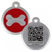 QR Dog Tag - Red Bone