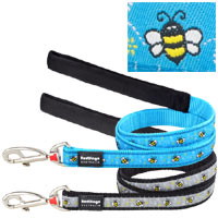 Red Dingo Dog Lead Bumble Bee