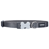 Red Dingo Cool Grey Dog Collar