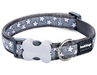 Red Dingo Dog Collar Grey Star