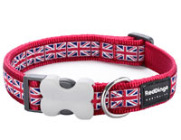 Red Dingo Dog Collar Union Jack